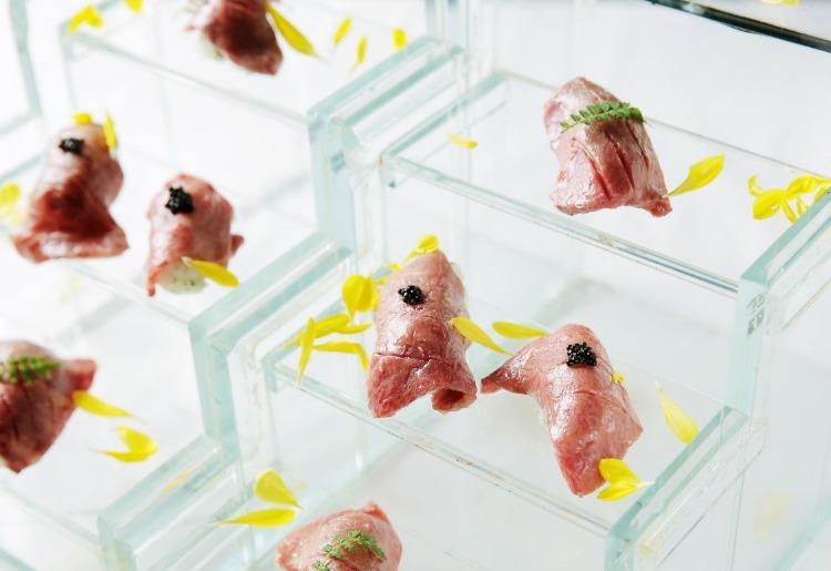 【牛牛の演出肉】 硝子のシンデレラ寿司